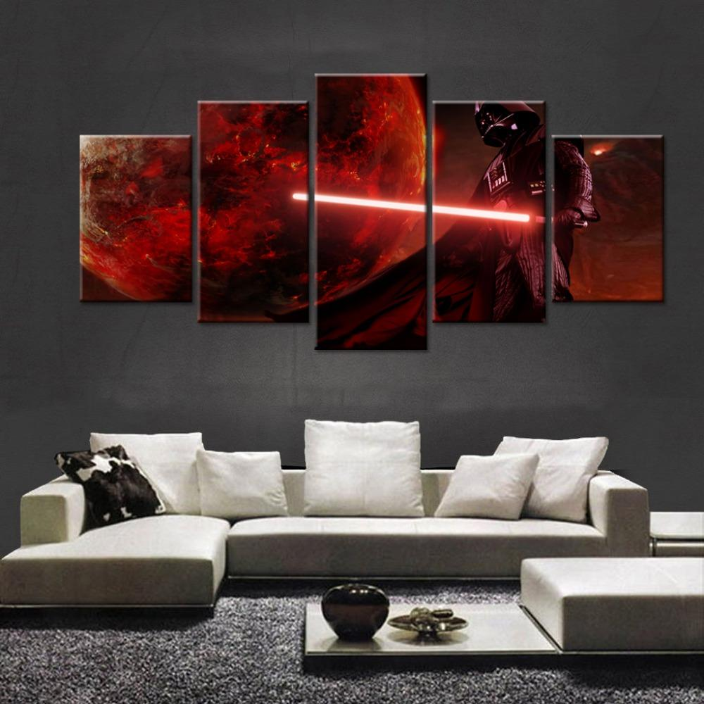 Home Decor Labs On Twitter Star Wars Darth Vader 5 Panel Canvas Wall Art Print Porgs Starwars Usetheforce Thelastjedi