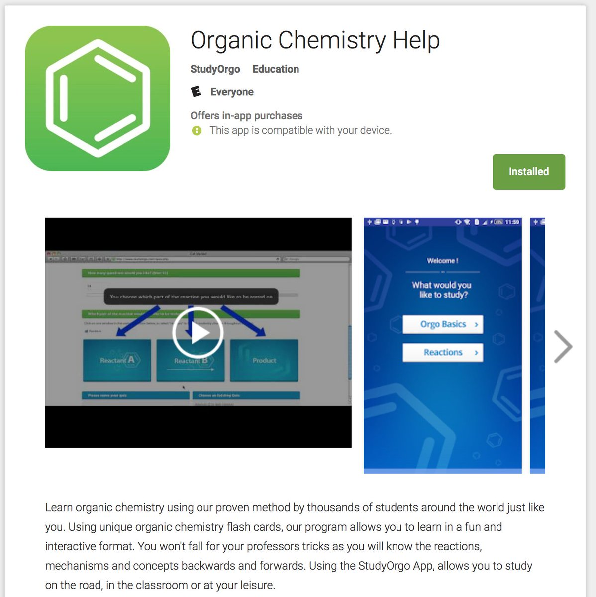 chemistry apps for android