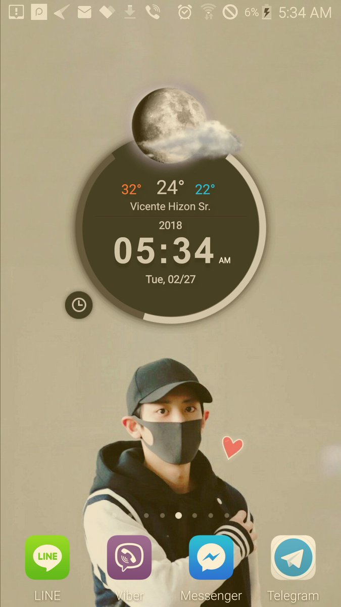 Exo Exo L On Twitter My Lock Screen And Home Screen Looks So
