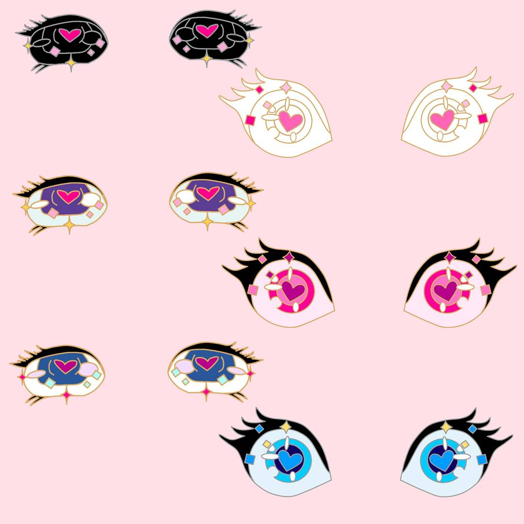 Geeky Pins On Twitter These Ahegao Kawaii Eye Sets Are Now Available For Preorder In My Shop Order Your Set Today Anime Manga Eyes Ecchii Pin