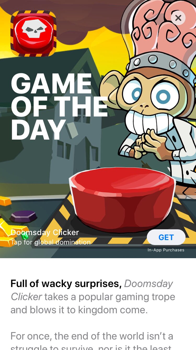 ryan langley on twitter so cool doomsday clicker is a game of the