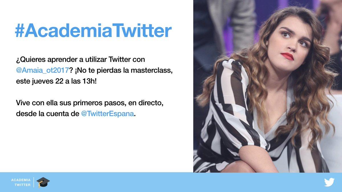 Aprende a tuitear con @Amaia_ot2017 el p...