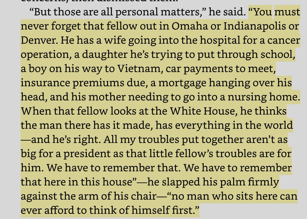 """""""No man who sits here can ever afford to think of himself first."""" LBJ on the presidency. https://t.co/tldixX0xD3"""