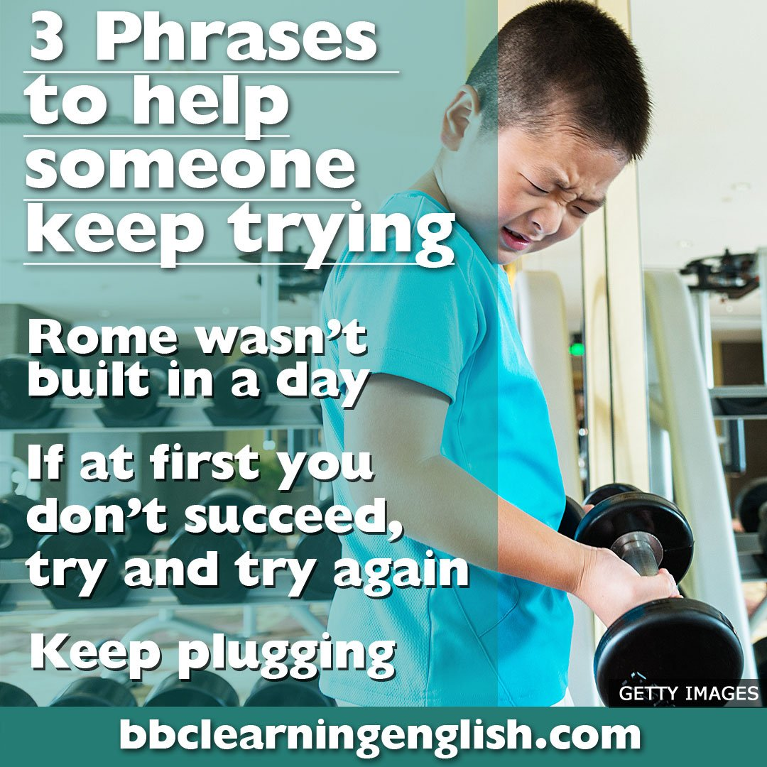 😢 Life can be hard. 😬 But it's important not to give up! 👍 Here are three expressions to help someone keep trying when they want to give up! 👍  #learnenglish #cheerup