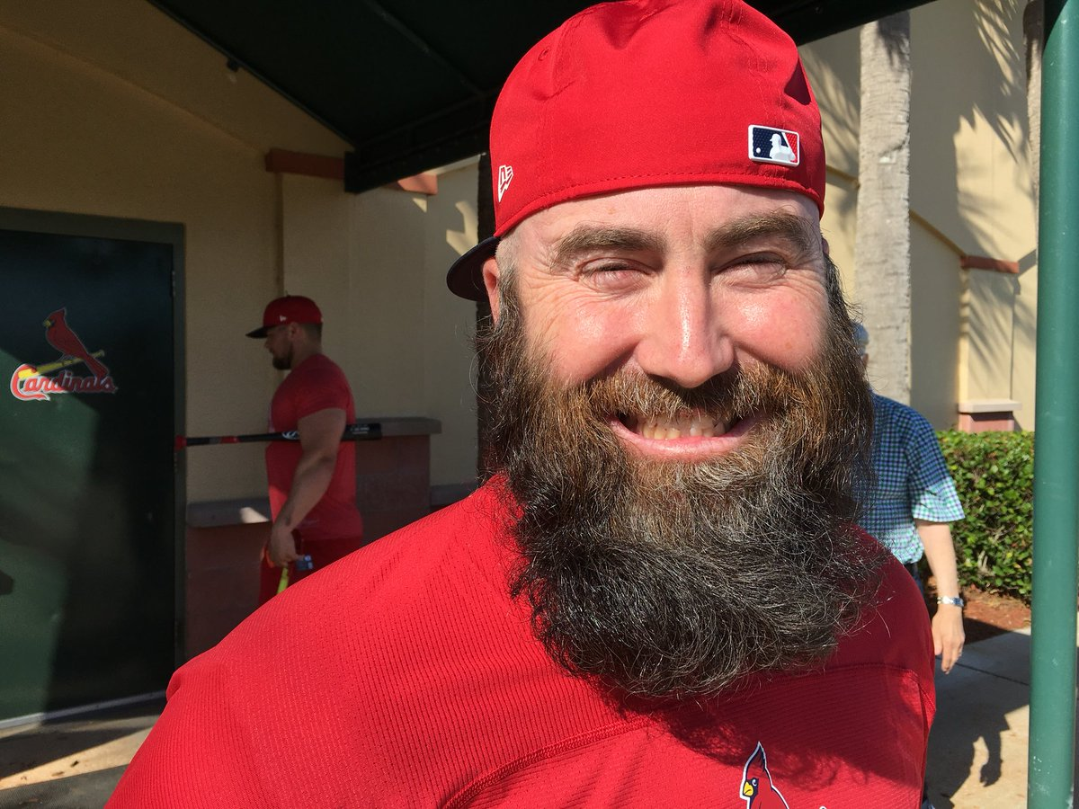 Joe Trezza On Twitter That Beard Adam Wainwright It S Wavy Dexter Fowler Jason Motte Had To Shave Last Spring He Called It The Worst Two Weeks Of His Life Brutal