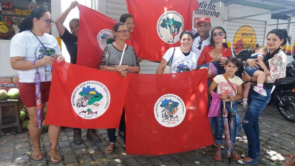 #PB, O Povo sai às ruas, debaixo de um sol escadante para manifestar contra a reforma da previdência.  via Frente Brasil Popular #QueroMeAposentar