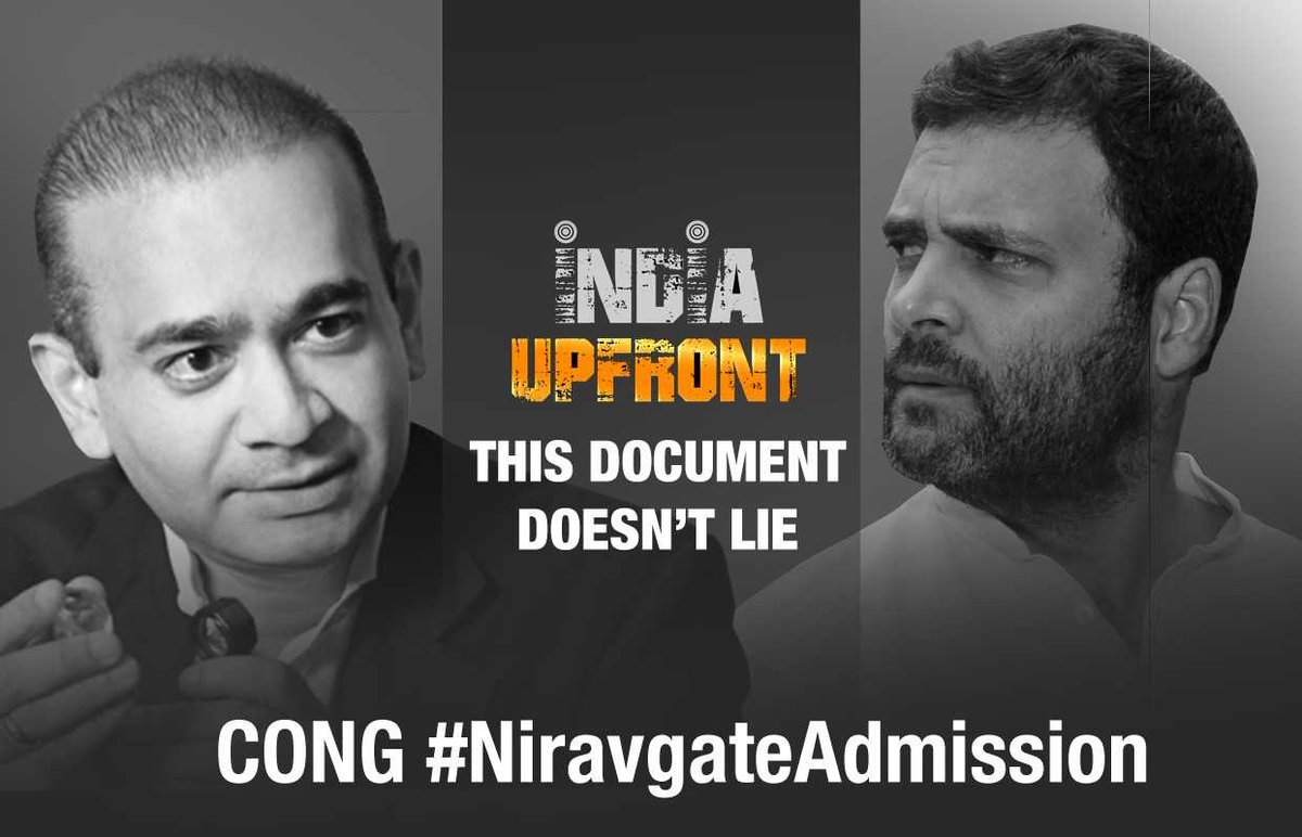 BIG QUESTION to NDA: By simply saying this was an 'original sin' committed during the UPA tenure, can the NDA shrug off any responsibility for Nirav Modi and his kin leaving the country as recently as January?   Tweet to us with CONG #NiravgateAdmission and express your views