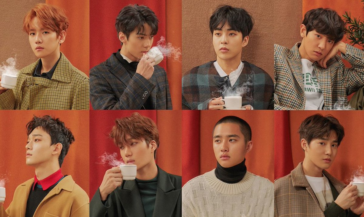 Hello, yes. I'd love some coffee with a side of @weareoneEXO. ☕️