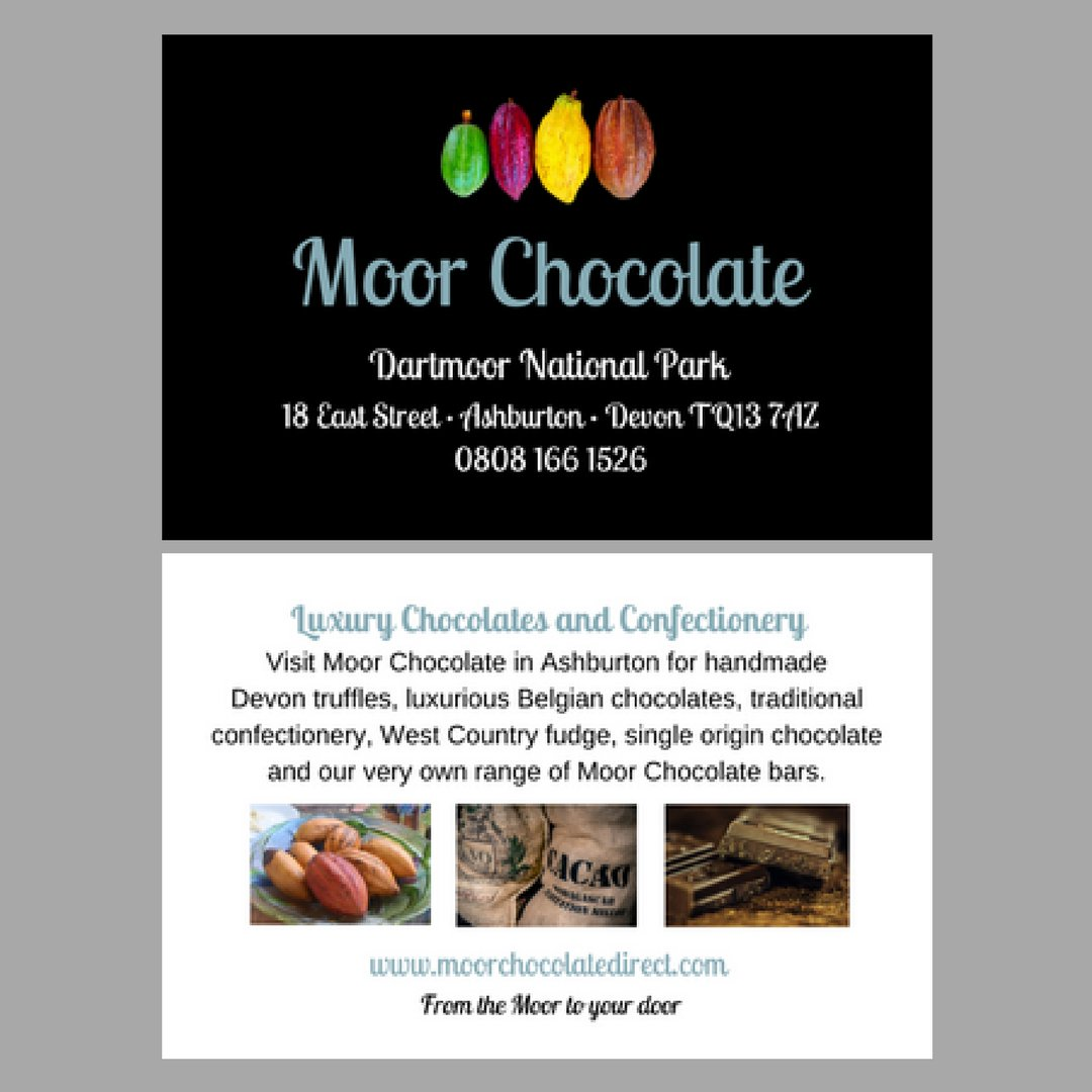 Moor Chocolate On Twitter Just Received Our New Business Cards In