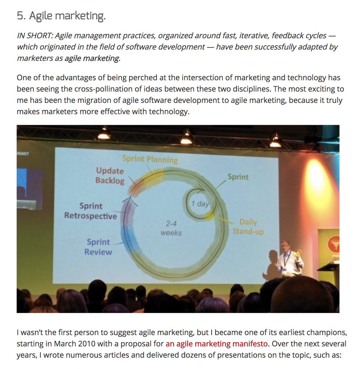 Scott Brinker On Twitter A Decade Of Martech 5 Of Top 10 Ideas Agile Marketing Https T Co N6kpnjhqde