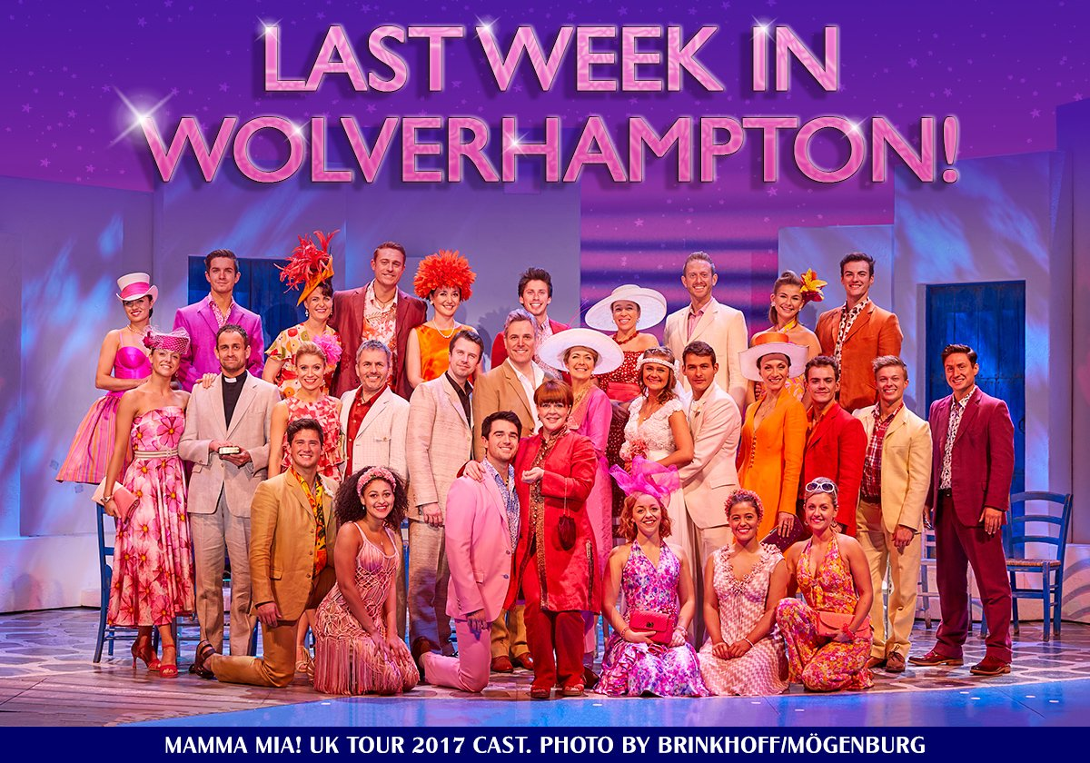Don't miss the #MammaMiaUKTour in #Wolverhampton! We're at @WolvesGrand Theatre for one more week until 24 Feb so GR-ABBA your tickets today: http://bit.ly/2BrJWzx   For tickets to all other UK venues, check the website: http://bit.ly/MMUKTour    #MammaMiaMusical