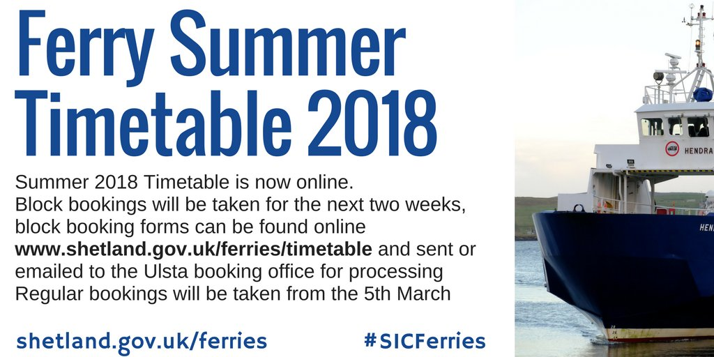 SICFerries from:ShetIslandsCll - Twitter Search
