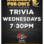 America's Pub Quiz Trivia is at DJ's Dugout Plattsmouth location Wednesdays at 7:30pm! Test your knowledge & join the fun!