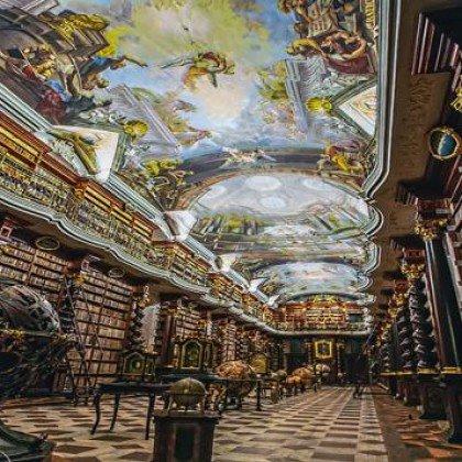 Biblioteca Clementinum de Praga, una mar...