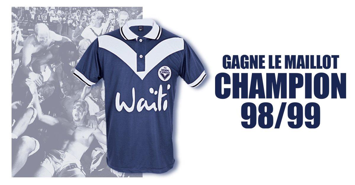 RT et follow @girondins pour gagner le maillot hommage du titre de Champion de France 99 !