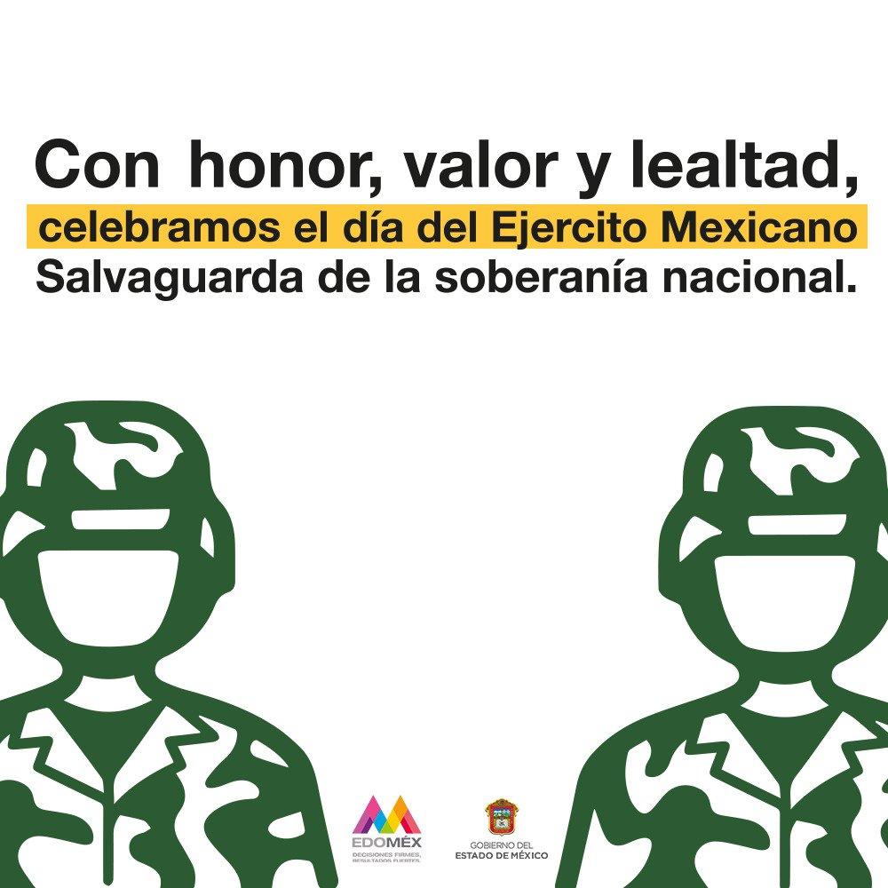 Hoy conmemoramos el #DíaDelEjercitoMexic...