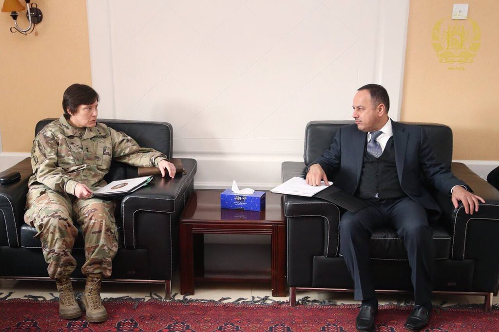 It was my pleasure to meet Maj. Gen. Robin L. Fontes, the Commander of Combined Security Transition Command – Afghanistan and discussed transparency of budgetary issues and salary of our national security forces.
