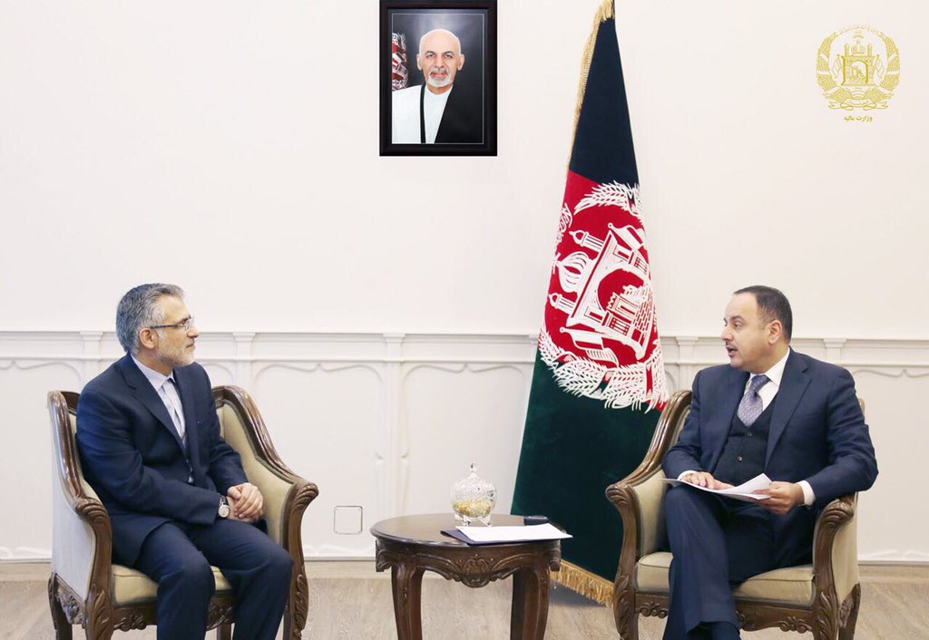Today, I met with Amb of Iran to Afghanistan to talk on preparations for the upcoming third Joint Economic Commission between the two countries.