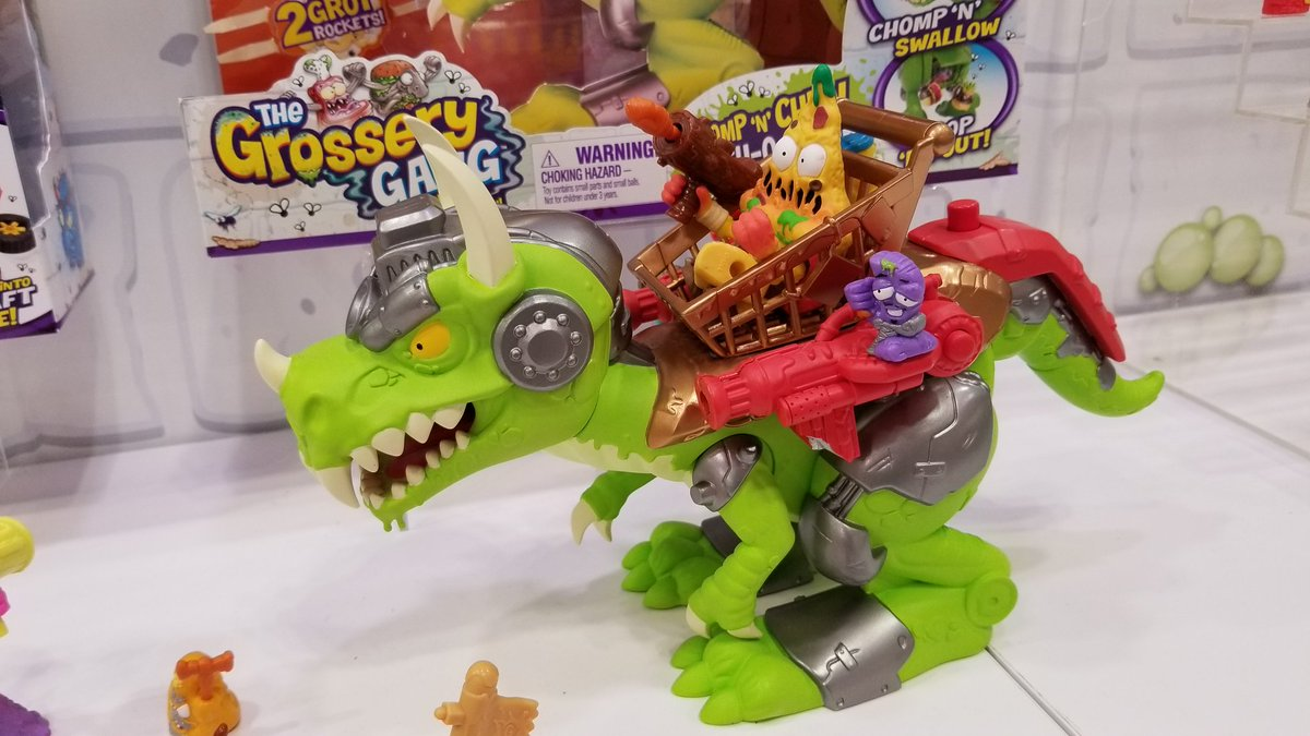 MY HEAD ASPLODE!!!  Grossery Gang Dino!!...