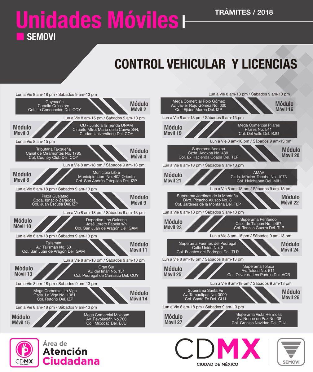 Secretaría De Movilidad Cdmx On Twitter Los Módulos