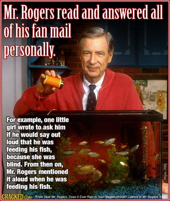 The Awesomeness of Mister Rogers & 25 True Stories That Prove Humanity Is Not All Bad - https://t.co/G28um8G5Ec