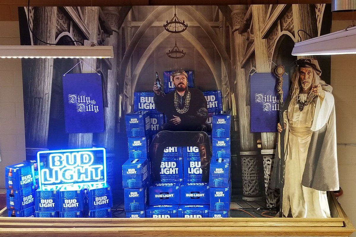 Carmen santaferrara on twitter dilly dilly display i created budlight bud anheuserbusch beer commercial king wizard fantasy castle magic medievel banner flag scene followpicitter5tadqiinai aloadofball Image collections