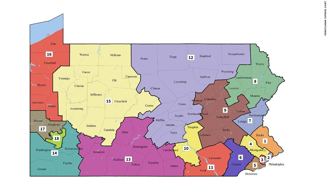 The Pennsylvania Supreme Court releases new congressional maps for the state, which could help Democrats cnn.it/2EDI9Ih
