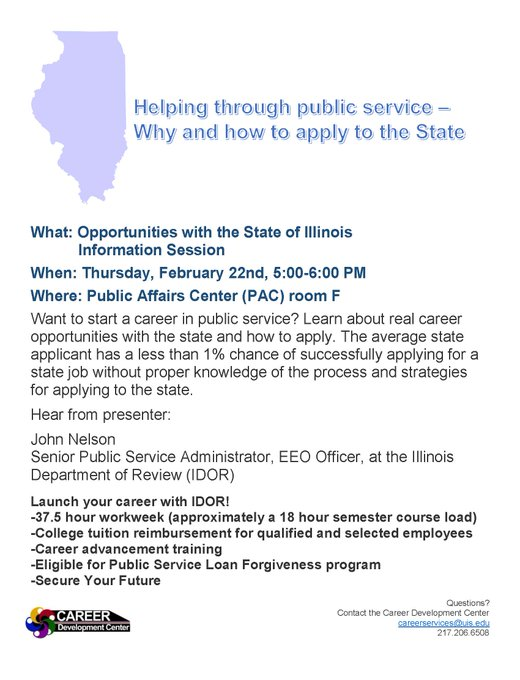 RT @UISCareerCenter: Hey #UISedu students! Are you interested in opportunities with IDOR or other agencies? Attend this information session…