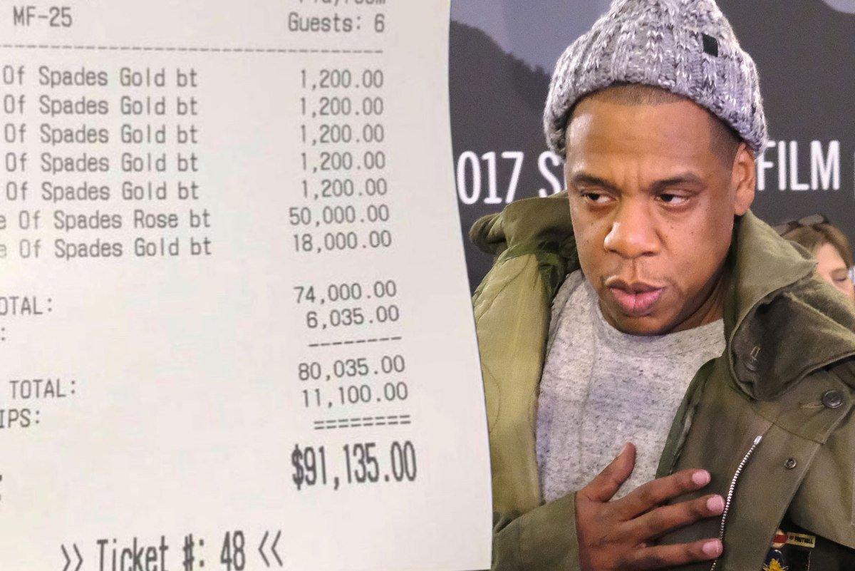 Jay-Z racked up an epic bar tab https://...