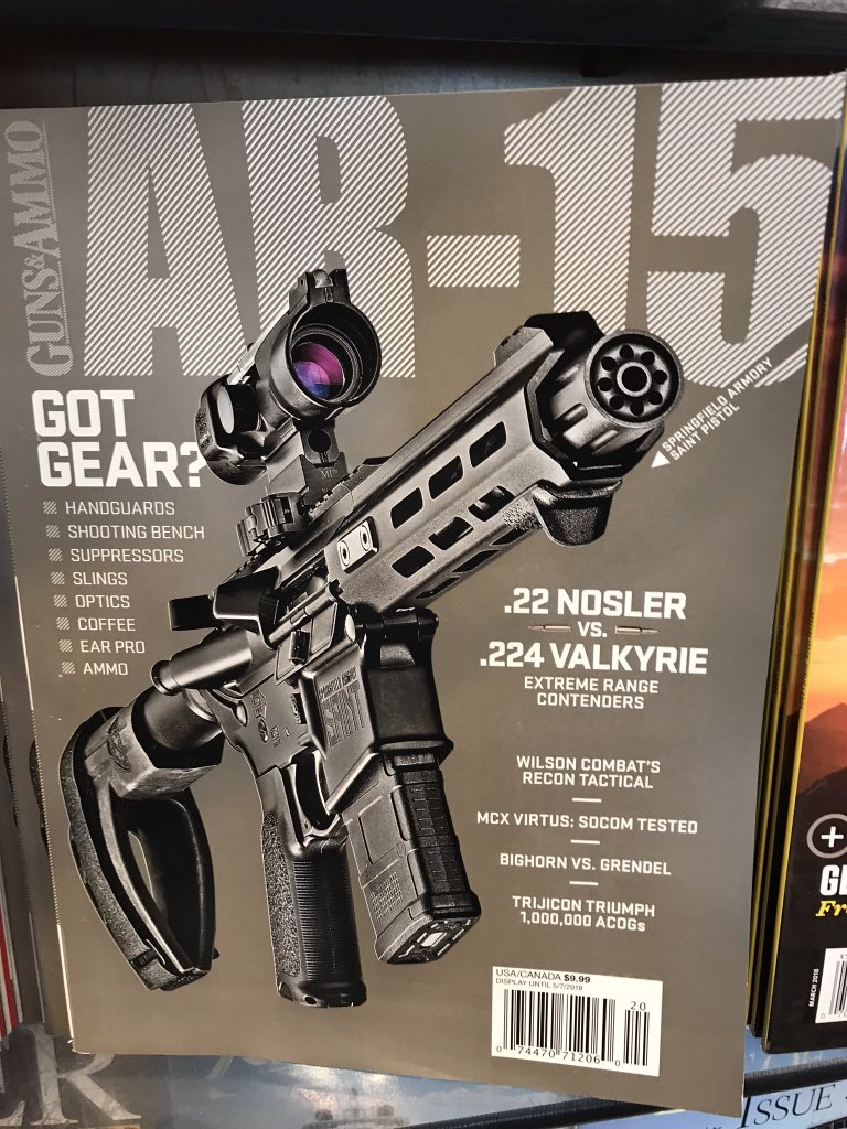 Shame on you @GunsAndAmmoMag - advertising AR-15s on your front cover... issue should've been pulled given recent events.