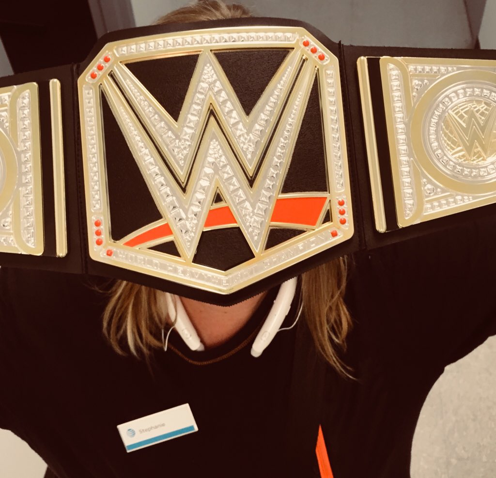 """""""You can't see me"""" John Cena...oh wait it's Steph selling a DTV NOW! #dawgpound #championsleague @DaleB1"""