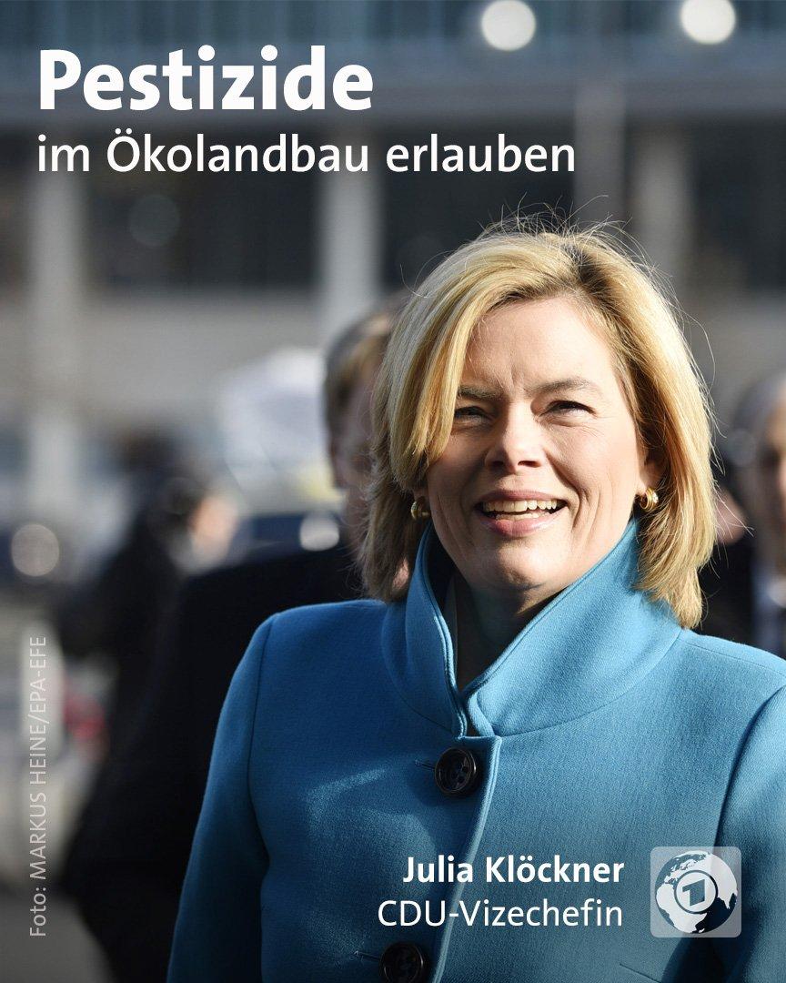 Die aktuell als Bundeslandwirtschaftsministerin gehandelte CDU-Vizechefin Julia #Klöckner will auf ökologisch bewirtschafteten Flächen konventionelle Pflanzenschutzmittel erlauben https://t.co/d6m8zDkTIE