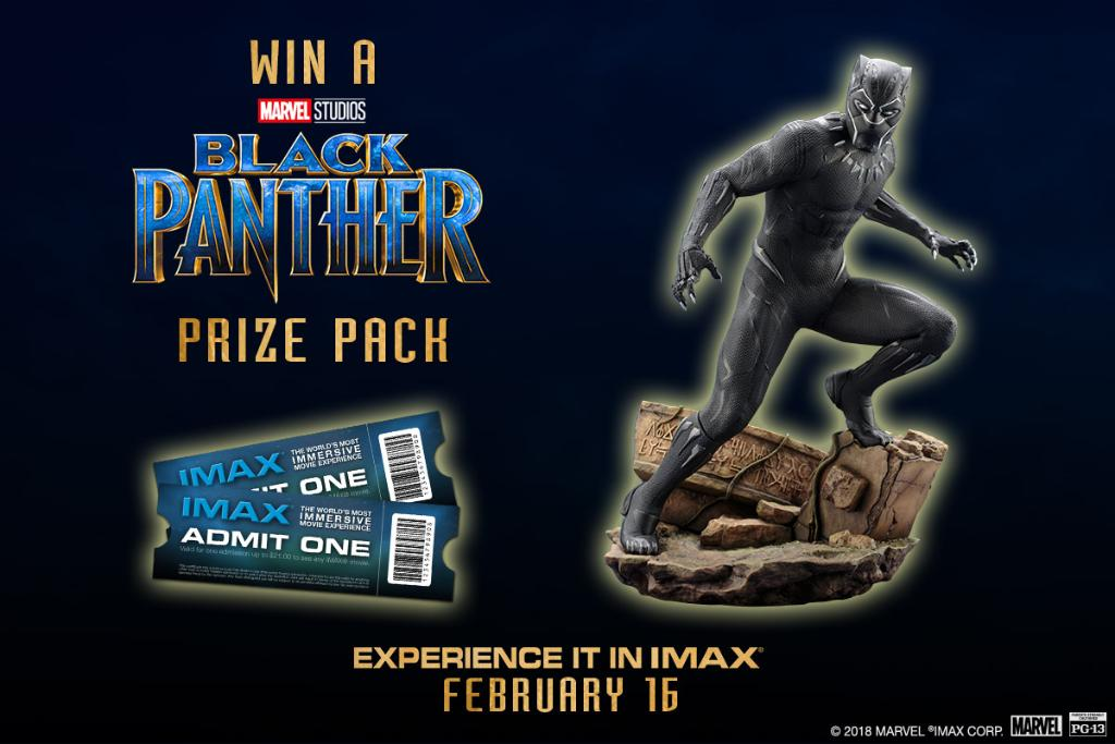 Now YOU can feel like royalty. Enter for your chance to win IMAX tickets and a #BlackPanther ARTFX statue from @koto_official: https://t.co/dnQxfr6KLh