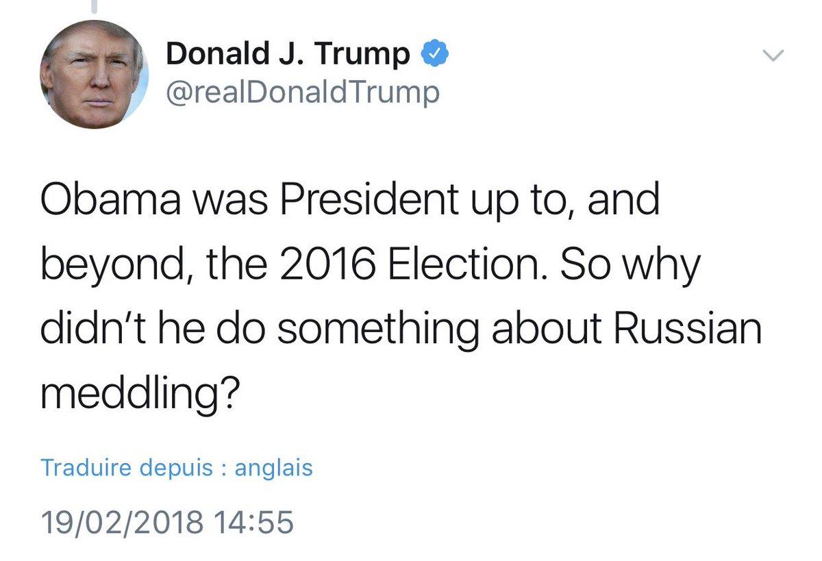 🔴 INFO - #USA: Donald #Trump s'en prend à Barack #Obama sur l'enquête russe en l'accusant de n'avoir rien fait.'