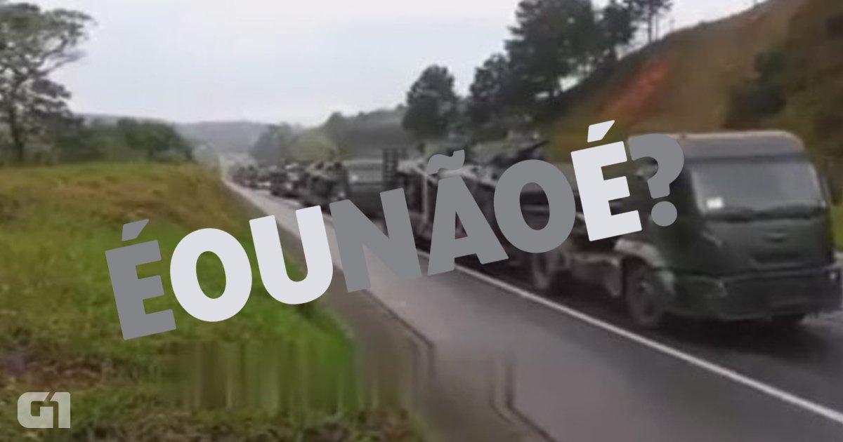 Vídeo mostra tanques na Dutra rumo ao Rio para intervenção? Não é verdade! https://t.co/dJWzbmUHBn #G1
