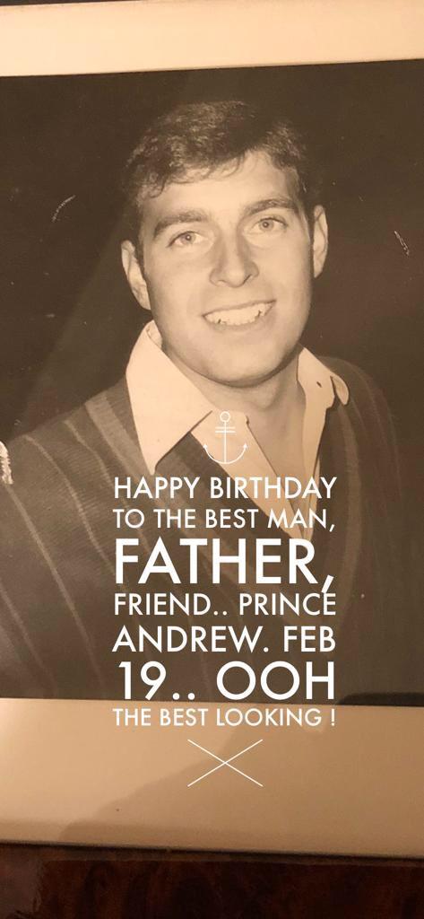 Вчера у принца Эндрю был День Рождения, Сара поздравила его в своём твиттере