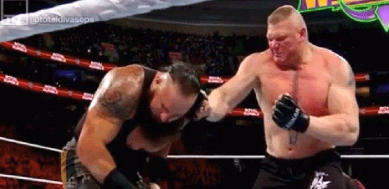 Braun Strowman On Brock Lesnar Punching...