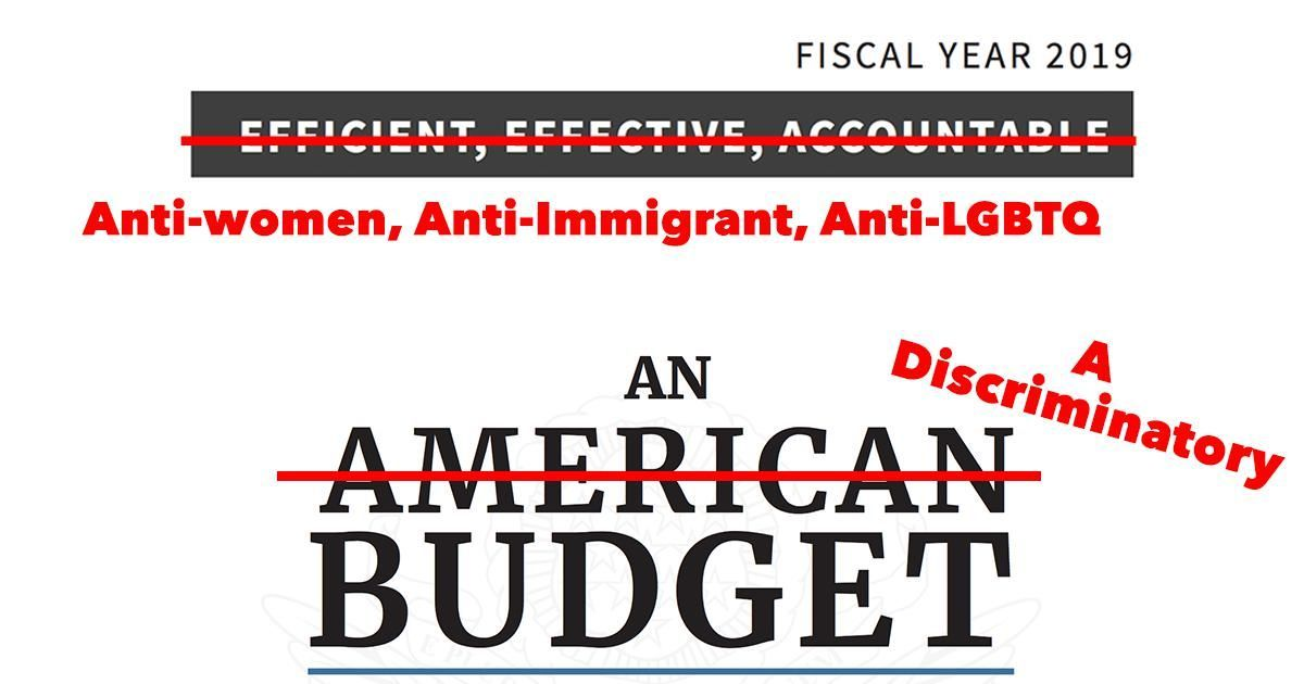 The cruelest things the Trump-Pence budget proposes:  - Undermine Obamacare  - Gut Medicaid  - Block people from Planned Parenthood  - Redirect pregnancy prevention funds to abstinence-only programs  - Ban detained immigrants from getting abortion  - Build a wall