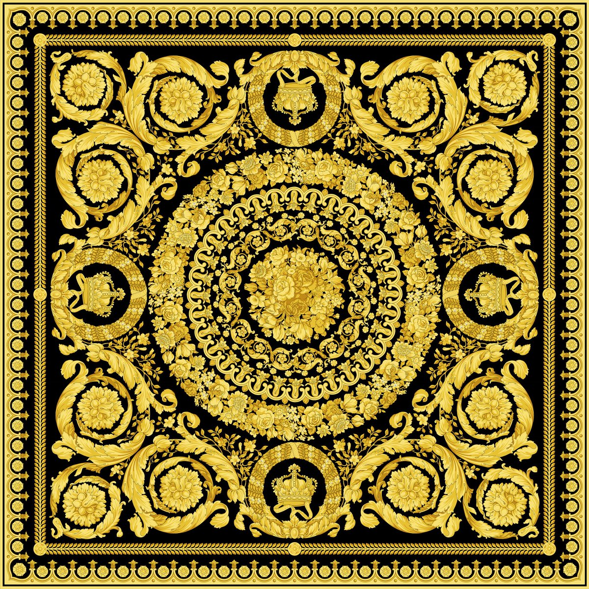 versace on twitter the versace barocco print first designed by gianni versace for the fall. Black Bedroom Furniture Sets. Home Design Ideas