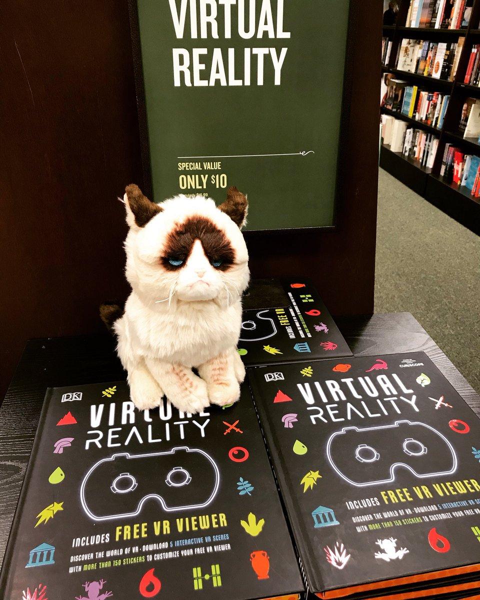 Grumpy Cat is having no part of your virtual reality. ... @RealGrumpyCat  ... #grumpycat #virtualreality #kids #bn #philly #sj #deptford #cat #vr #video #book #viewer #customize #fun #nextgen #games #angrykitty #havingnoneofit