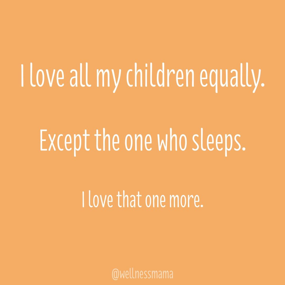 How did you sleep this weekend? 😉 #momlife #motherhood #wellnessmama