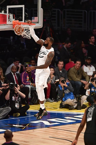 #LeBronJames scored 29 points to lead his team to victory in the #NBAAllStar Game. It was the 8th time in his career that James scored at least 25 points in an NBA All-Star Game, three more than any other player (Bob Pettit and Kobe Bryant both had five such games).