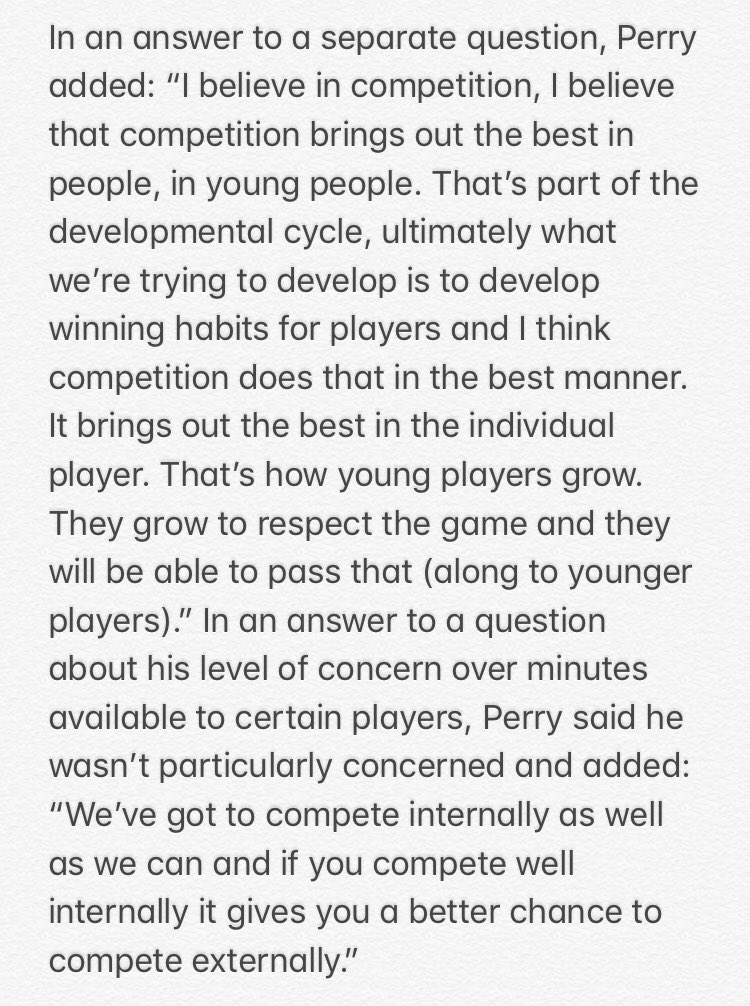 NYK's probably going to play younger players like Ntilikina, Burke, Mudiay, Dotson, Kornet & Hicks more often between now & the end of the year. After the Mudiay trade, GM Scott Perry was asked about the idea of giving younger players more minutes. Here are some of his answers: