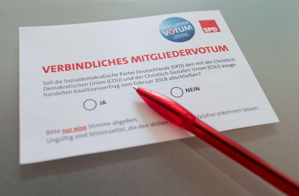 Mitgliedervotum bei der SPD: Groko-Gegner fühlen sich veräppelt stuttgarter-zeitung.de/inhalt.mitglie…