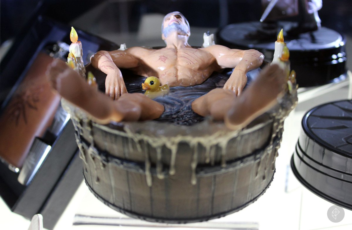 Psst. Can we interest you in a high-end collectible statue of Geralt of Rivia in a bathtub? https://t.co/lZDrnMgYpP