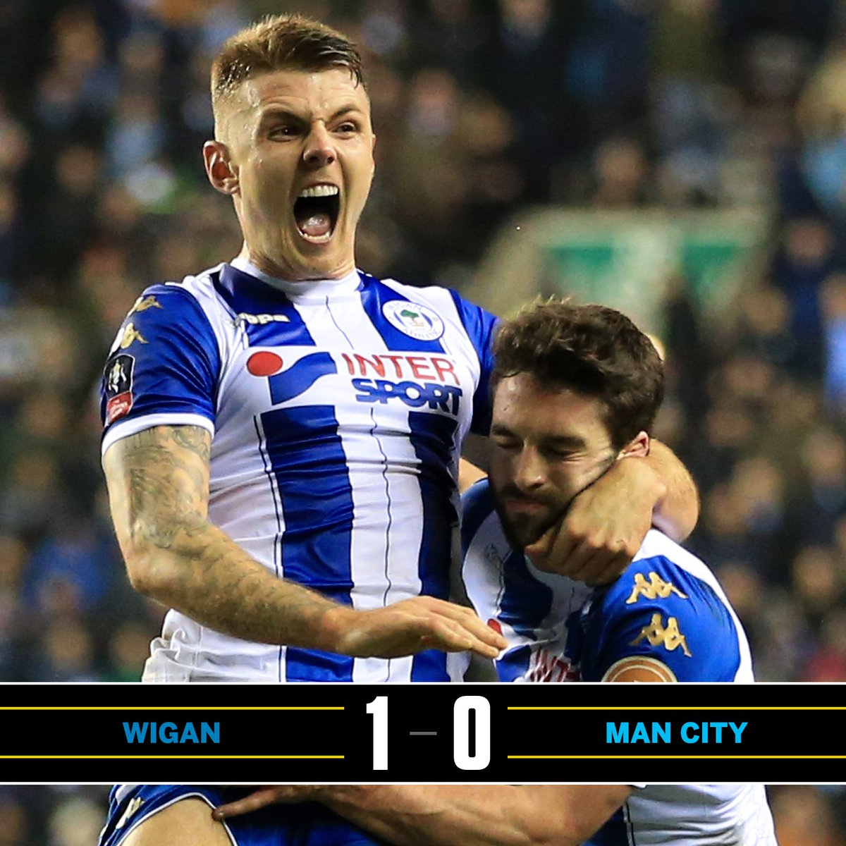 Wigan knock Manchester City out of the F...
