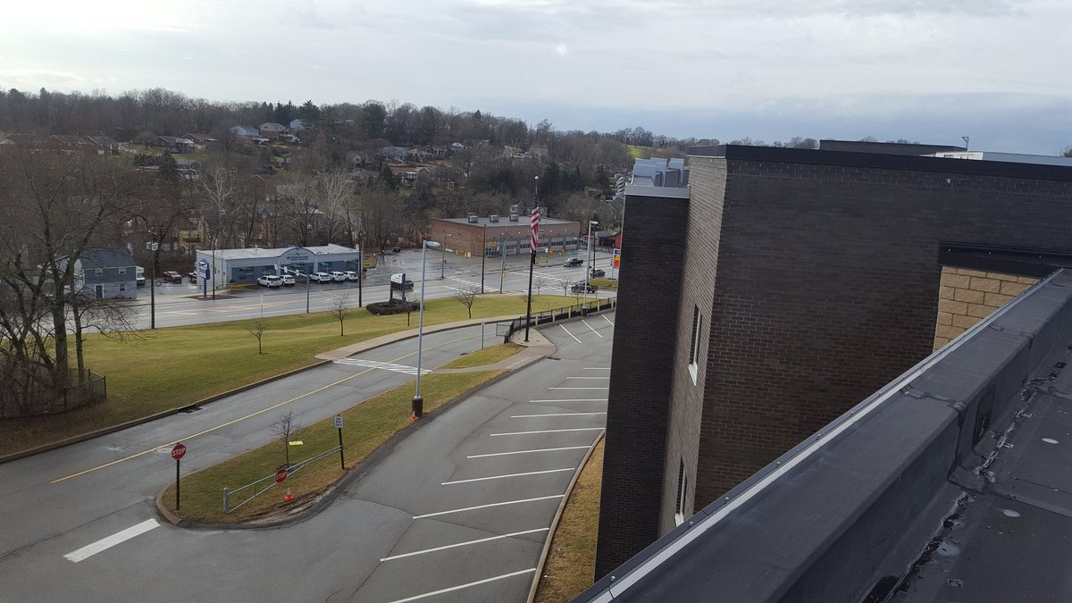 A whole new vantage point of Whitehall from high atop BHS.   Spent the day with our architects planning out necessary repair work to our schools.