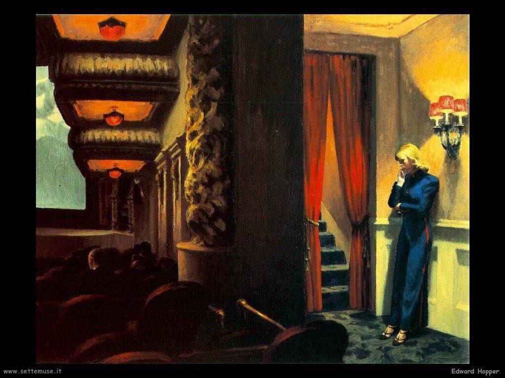 Edward Hopper (1882 - 1967) 'Cinema a Ne...