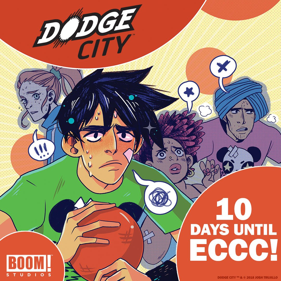 BOOM! Studiosis here to help us countdown to #ECCC - only 10 days left!! Visit @boomstudiosat Booth 1002 & Artist of Dodge City @ohcarararaat Booth S2 in Artist Alley! Get tickets ASAP, Thurs & Fri are going quick: fal.cn/4uNh