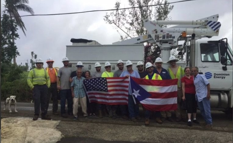 Dominion Energy restoration teams return safely from Puerto Rico https://t.co/fLxo8p6Qr1